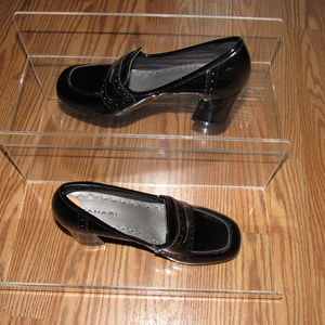 Tahari Logan Block Heel Loafers Patent Shoes Sz 7M